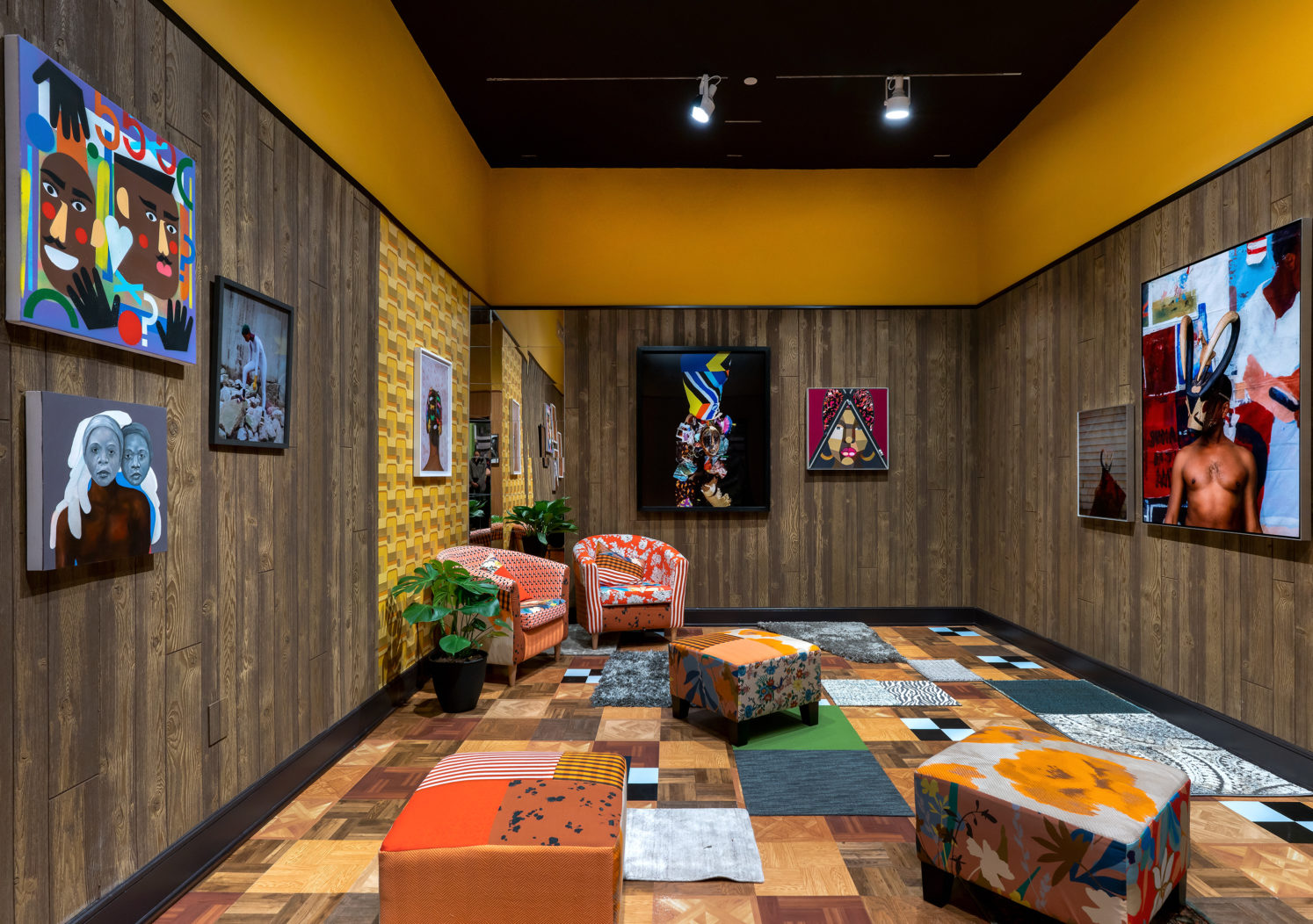 Installation view of Mickalene Thomas: Better Nights
