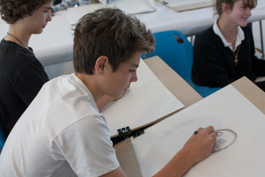Image of student in Teen Art Class